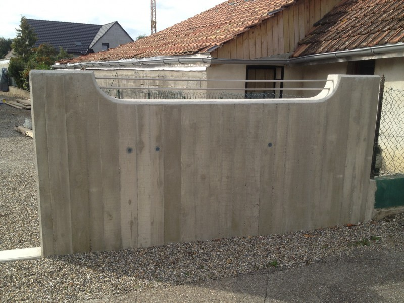 Mur en béton armé - Obersaasheim